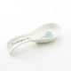 Spoon Rest Heart & Words Turquoise