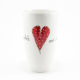 Bullet Vase Heart & Words Red