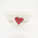 Salad Bowl Small Heart & Words Red