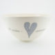 Salad Bowl Large Heart & Words Grey