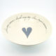 Pasta Bowl Large Heart & Words Grey