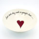 Pasta Bowl Large Heart & Words Red