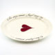 Oval Platter Large Heart & Words Red
