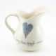 Country Jug Heart & Words Grey