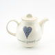 Tea Pot Heart & Words Grey