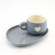 Cup and Saucer Snack Viva Glam Grey