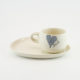 Cup and Saucer Snack Heart & Words Grey