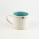 Mug C Candy Love Turquoise - stripe with heart