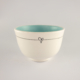 Breakfast Bowl Candy Love Turquoise-Stripe with Heart