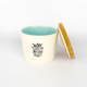 Pet Food Canister Small Turquoise Woof you…