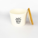 Pet Food Canister Small White Woof you…