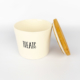 Pet Food Canister Small White Treats