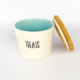 Pet Food Canister Small Turquoise Treats