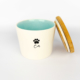 Pet Food Canister Small Turquoise Cat