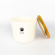 Pet Food Canister Small White Cat