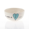 Soup Bowl Heart & Words Turquoise