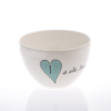 Breakfast Bowl Heart & Words Turquoise