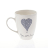 Mug A Heart & Words Grey