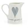 Old Farm Jug Heart & Words Grey