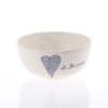 Soup Bowl Heart & Words Grey