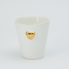 Candle cup - 3D Gold heart