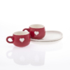 Cup and Saucer Snack Viva Glam Red