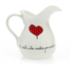 Country Jug Heart & Words Red