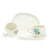 Cup and Saucer Snack Heart & Words Turquoise