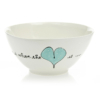 Salad Bowl Small Heart & Words Turquoise