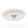 Pasta Bowl Medium Heart & Words Grey