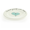 Wonky Dinner Plate Heart & Words Turquoise