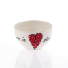 Small Bowl Heart & Words Red